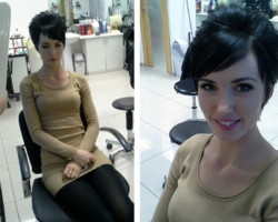 Женская стрижка на короткие волосы
